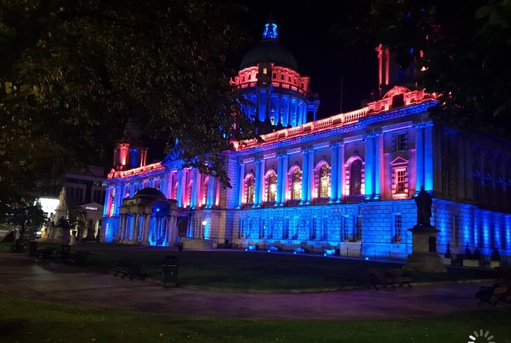 Northern Ireland lights up to raise awareness of Motor Neurone Disease - Newry Times - newry news today - Belfast City Hall 19