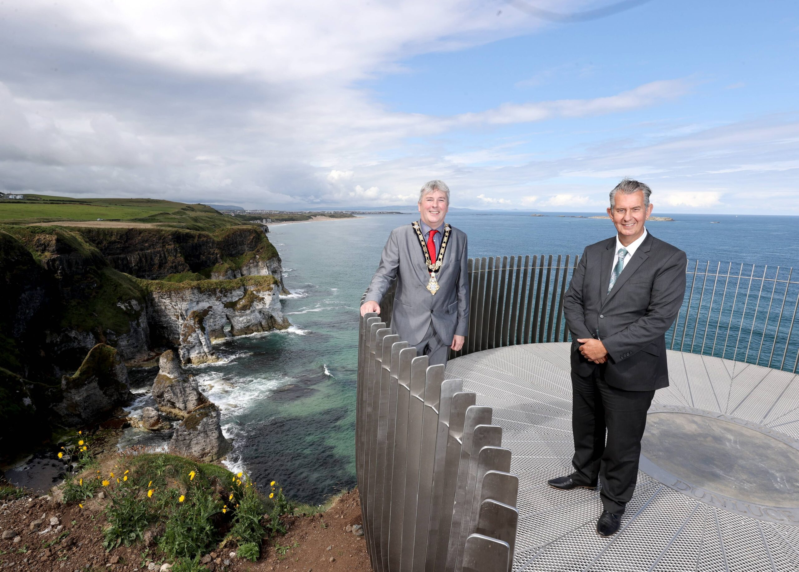 Minister opens new Viewpoint during visit to north Antrim coast - Newry Times - newry news facebook