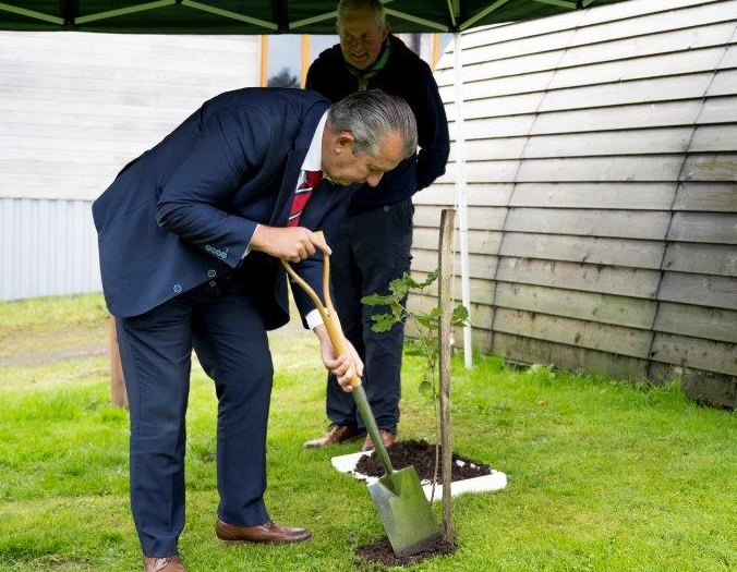 Poots plants tree for NI centenary - Newry Times - newry newspaper